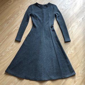 NWT J.CREW Heavy Wool Blend Gray Ponte Dress, 000
